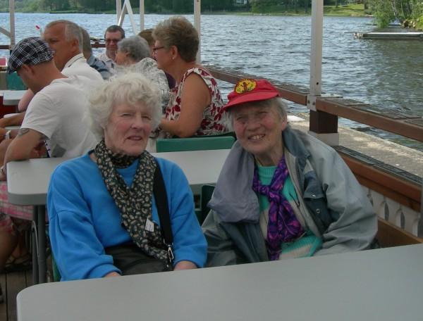 Två passagerare på denna Mors Dag var Inger Wenzel och Gerd Rendlert, även medlemmar i Solkanonklubben.