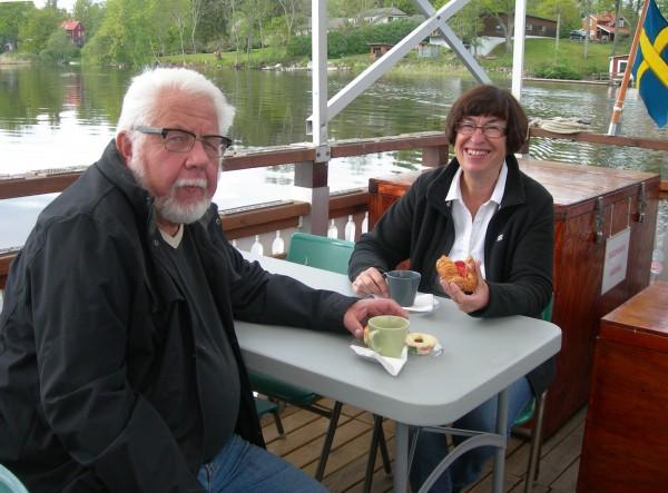 Båtöverste Sören och guideöverste Gunilla Enander
